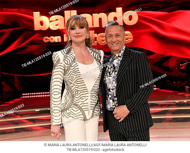 Milly Carlucci, Paolo Belli at the tv show Ballando con le setelle (Dancing with the stars) Rome, ITALY-11-05-2019