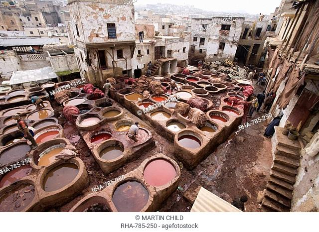 Tanneries, Medina, Fez, Morocco, North Africa, Africa