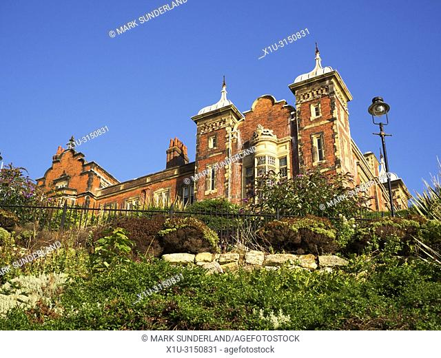 The Town Hall in early mornuing sunlight at Scarborough North Yorkshire England