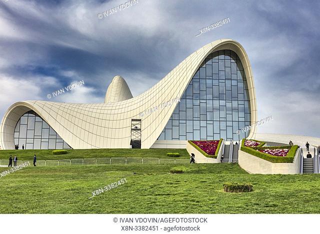 Heydar Aliyev Center, 2012, designed by Zaha Hadid, Baku, Azerbaijan