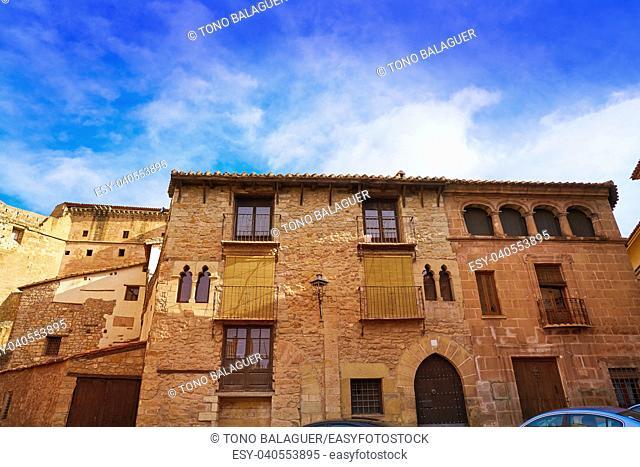 Mora de Rubielos village in Teruel Spain located on Gudar Javalambre Sierra
