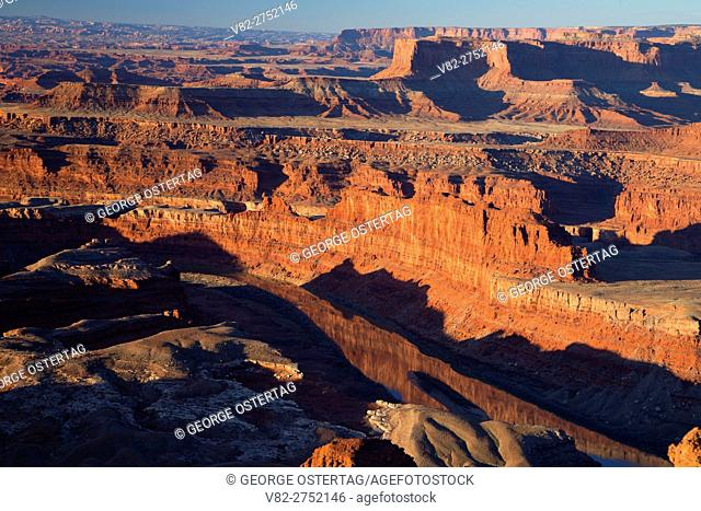 Colorado River canyon from Dead Horse Point, Dead Horse Point State Park, Utah