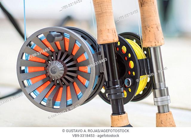 Saltwater fly fishing fly rod and reel