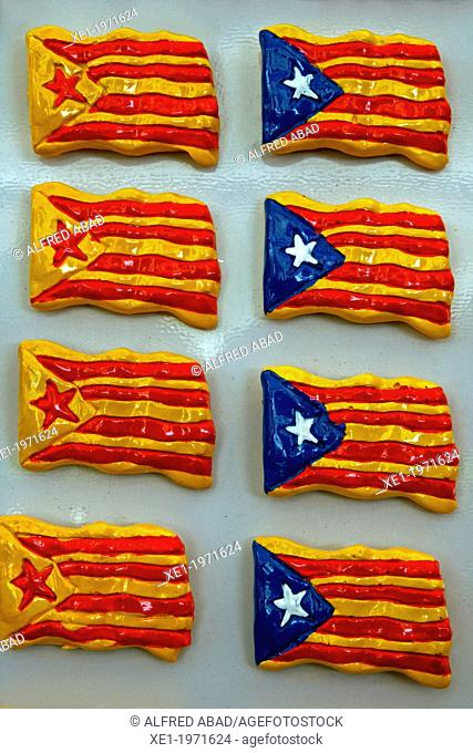 magnets, Catalan flags