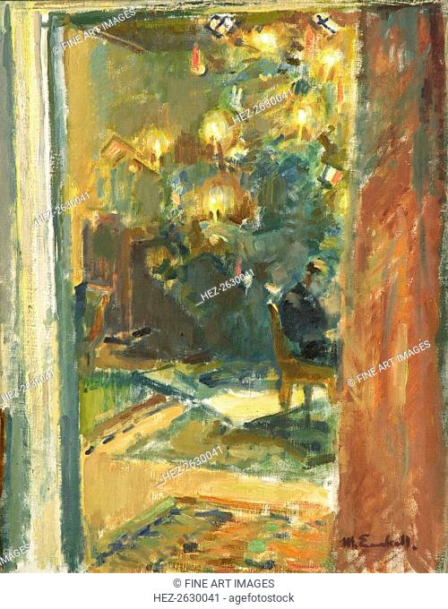 Christmas Tree in the Salon of Kilo Manor, Early 1920s. Artist: Enckell, Magnus (1870-1925)