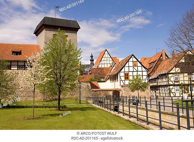 Old city wall, old town, Quedlinburg, Saxony-Anhalt, Germany