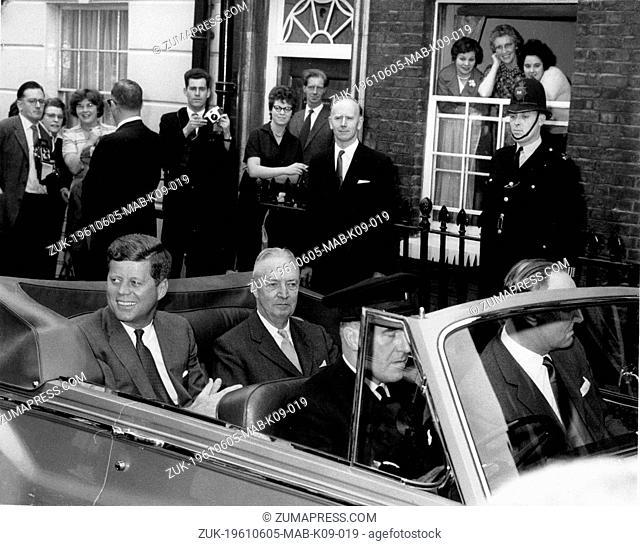June 5, 1961 - London, England, U.K. - All eyes are on U.S. President JOHN F. KENNEDY , as he leaves the Buckingham Place