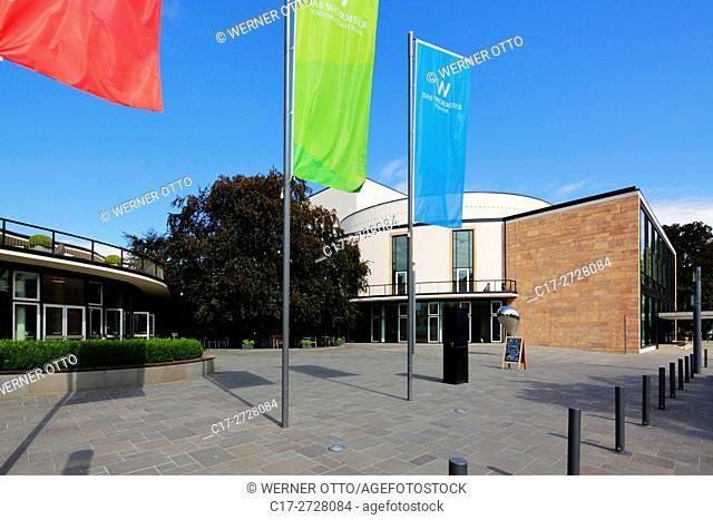 "Germany, Worms, Rhine, Upper Rhine, Rhenish Hesse, Rhine-Neckar area, Rhine-Main district, Rhineland-Palatinate, """"Das Wormser"""", theatre, cultural centre"