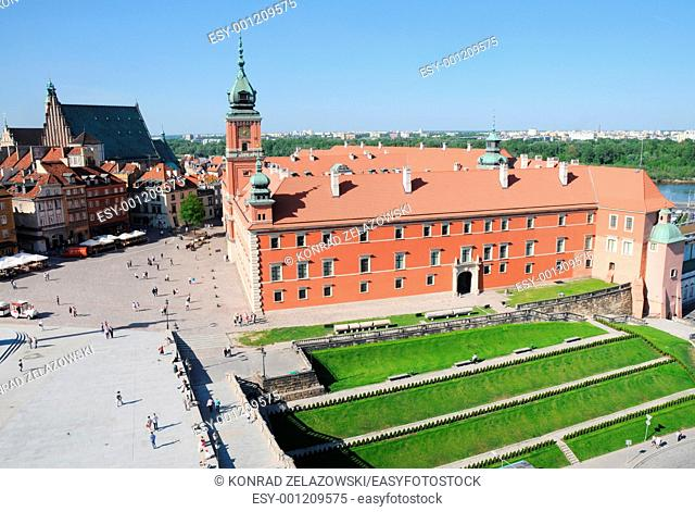 The Royal Castle located in Castle Square, Old Town in Warsaw, Poland