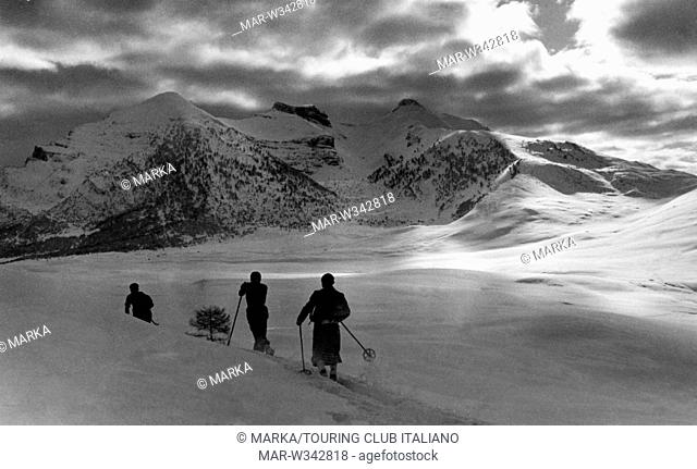 italia, trentino alto adige, monte bondone, colle delle viote, 1930-40 // Italy, Trentino Alto Adige, Monte Bondone, Colle delle Viote, 1930-40
