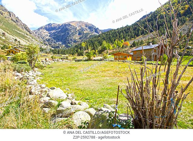 Incles valley Pyrenees mountains landscape Andorra