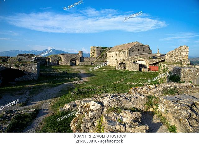 remains of castle at Skhodra, Albania