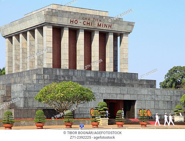 Vietnam, Hanoi, Ho Chi Minh Mausoleum,