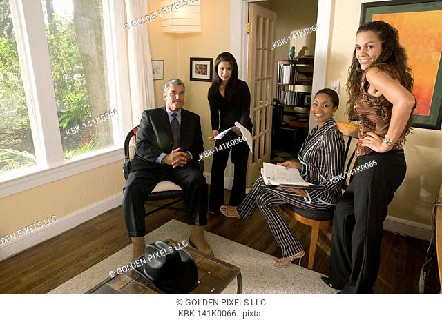 Portrait of women entrepreneurs in a business meeting