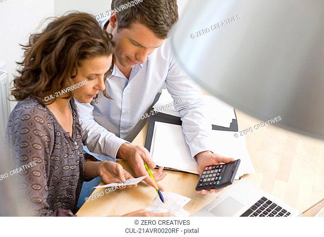 Couple doing account stuff