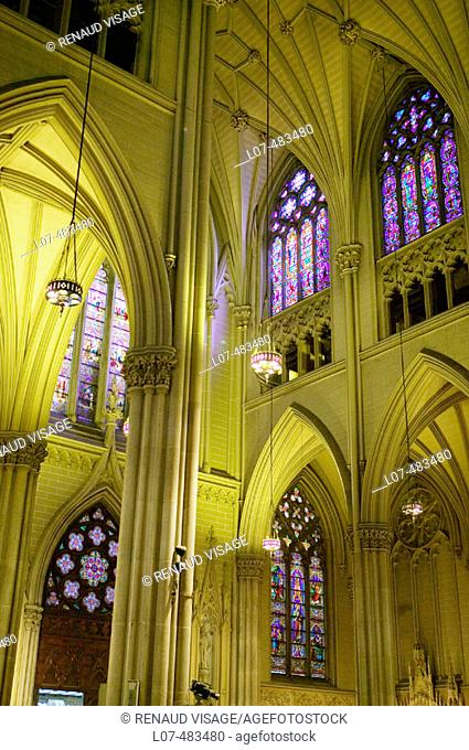 Interior of St. Patrick's Cathedral. New York City. New York. United States