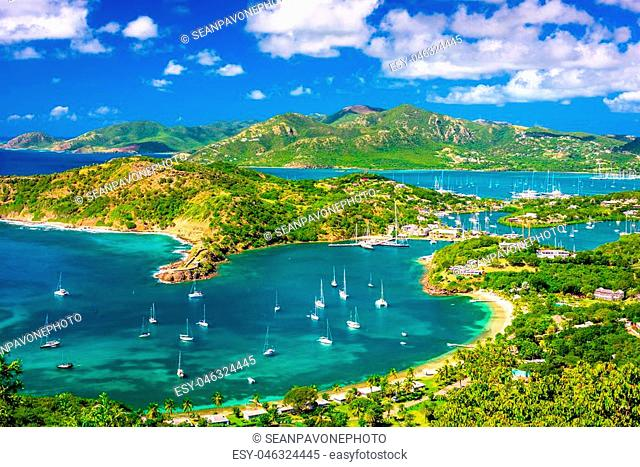 Shirley Heights, Antigua and Barbuda view from the overlook