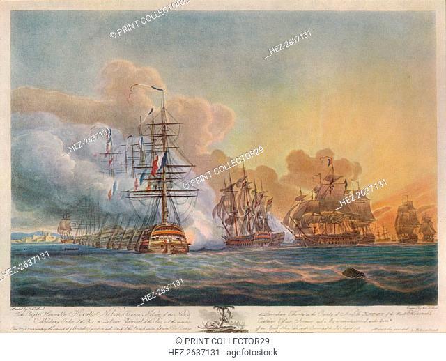 'Battle of the Nile', c1799. Artist: Nicholas Pocock