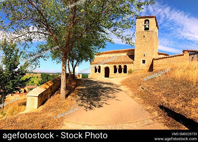 San Martin church. Aguilera, Soria province, Castilla Leon, Spain