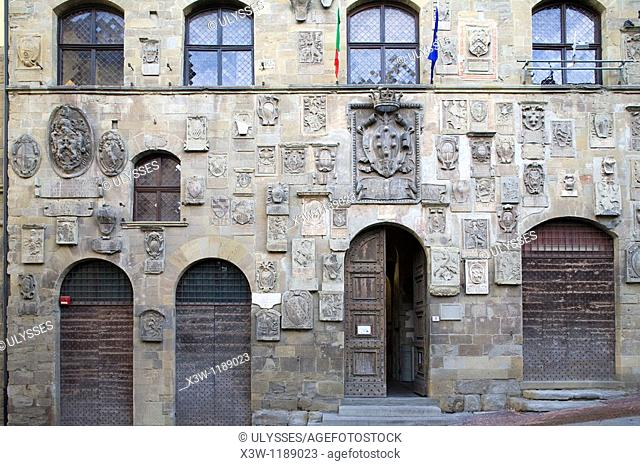 europe, italy, tuscany, arezzo, palazzo pretorio