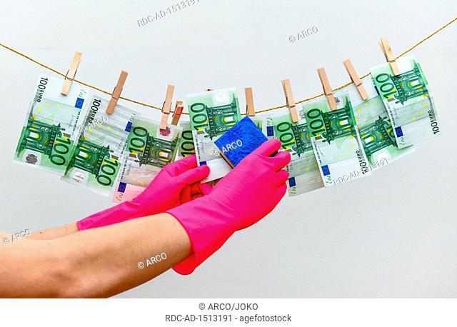 money laundering, Euro notes