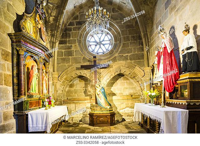 Chapel in the nave of Santa Maria de Campo Church. Viveiro, Lugo, Galicia, Spain, Europe