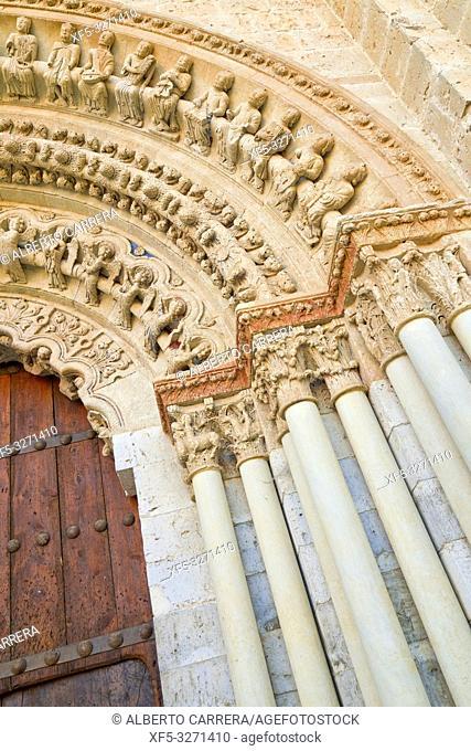 Collegiate Church of Santa María la Mayor, Romanesque North Door, Romanesque Style, Toro, Zamora, Castilla y León, Spain, Europe