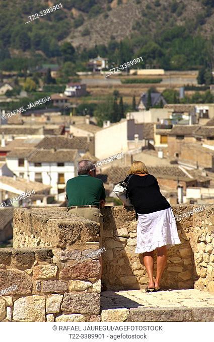 Caravaca de la Cruz (Murcia) Spain. Viewpoint from La Real Basilica-Sanctuary of Vera Cruz in the town of Caravaca de la Cruz