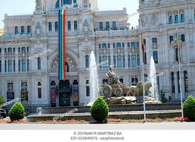 Cibele gountain and gay pride flag