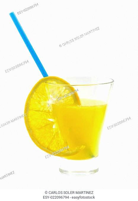orange juice and oranges isolated on white