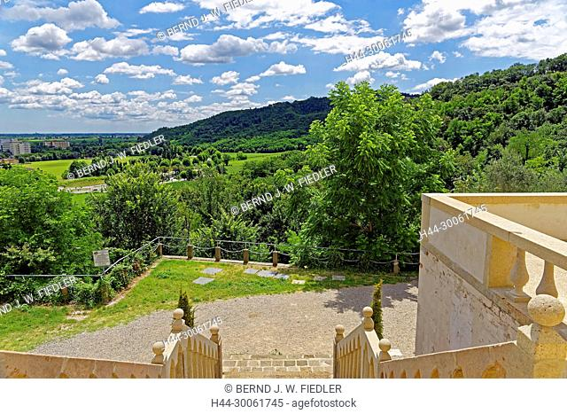 Europe, Italy, Veneto Veneto, Montegrotto Terme, via Enrico Fermi, villa Draghi, view, scenery, plants, place of interest, tourism, museum, trees, historically