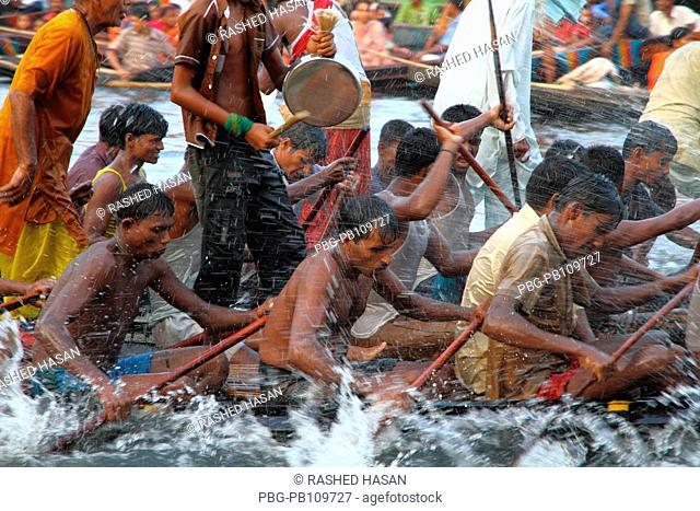 Boat race competition due to the Laxmi Puja  Hindu religious festival at Kaliganj, Gopalganj It is also the biggest village fair of Gopalganj Bangladesh October...