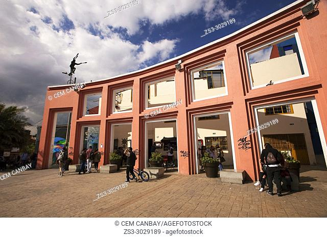 View to the historic Plaza Del Chorro De Quevedo in La Candelaria district, Bogota, Cundinamarca, Colombia, South America
