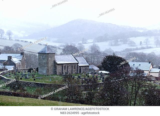 St David's Church, Llanddewi'r Cwm, Powys, Wales, UK