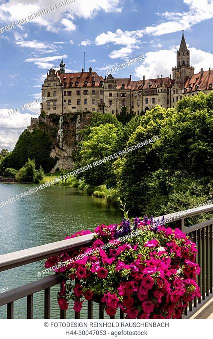 Germany Sigmaringer Castle at Danube River