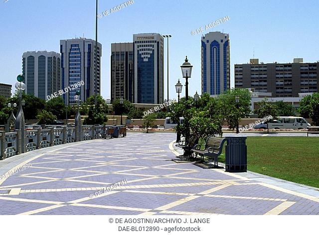 Buildings in Abu Dhabi, United Arab Emirates