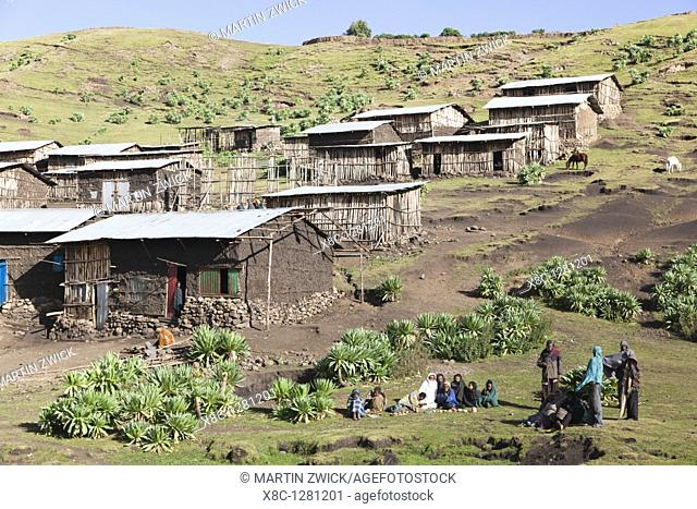 The village Arkwasiye bordering the Simien Mountains National Park  It was founded around 2007, when the National Park was enlarged  The old location