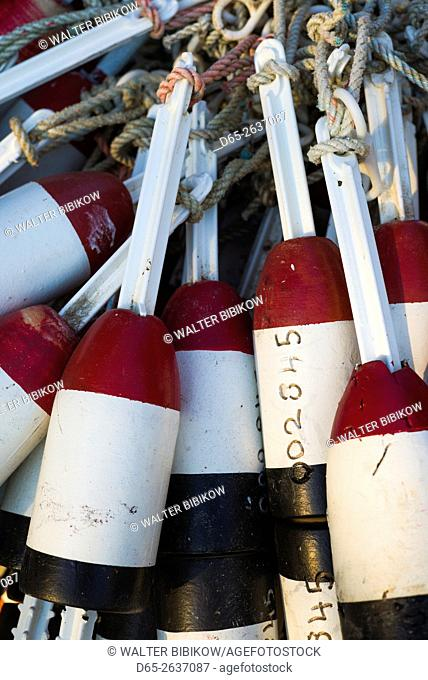 USA, Massachusetts, Cape Ann, Rockport, lobster buoys