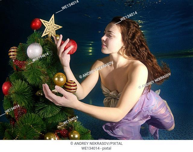 Underwater Christmas, Odessa, Ukraine, Eastern Europe