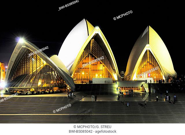 Sydney Opera at night, Australia, New South Wales, Sydney