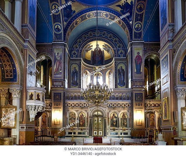 Athens Greece. The Mitropolis Cathedral
