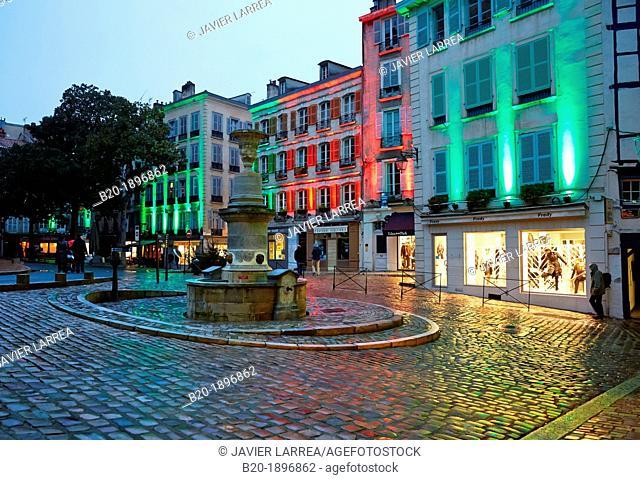 Christmas lights, Place Pasteur, Bayonne, Aquitaine, Pyrénées-Atlantiques, Basque country, 64, France
