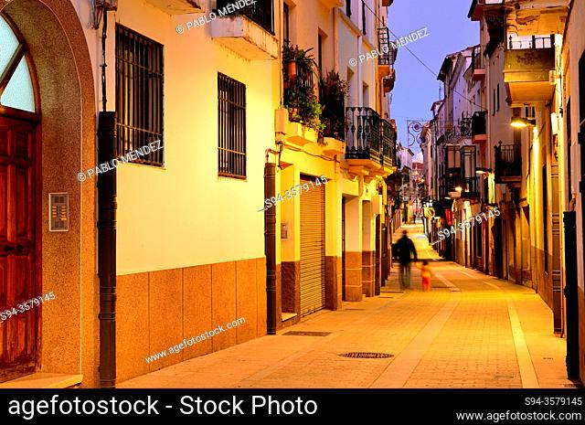 Pedestrian street in Plasencia, Caceres, Spain