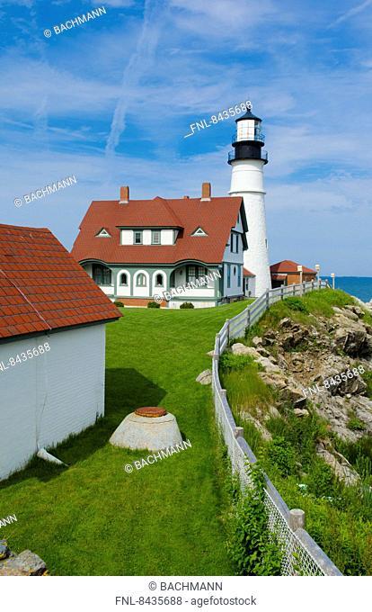 Portland Head Light Lighthouse, Maine, New England, USA