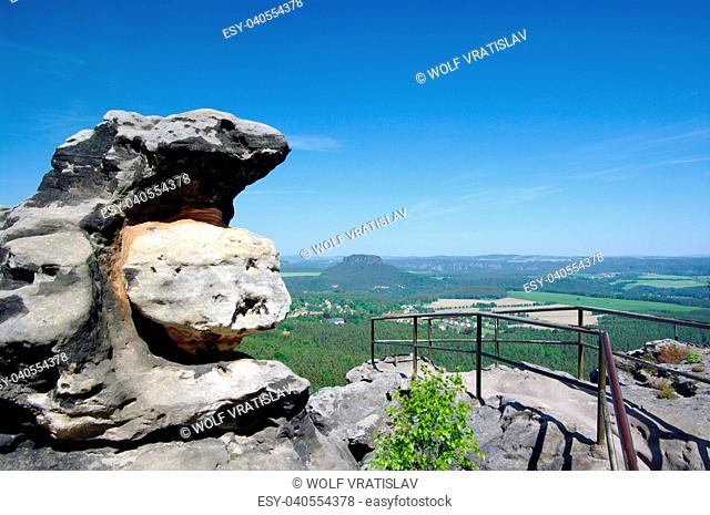 Papstein Lookout, Saxon Switzerland, Saxony, Germany