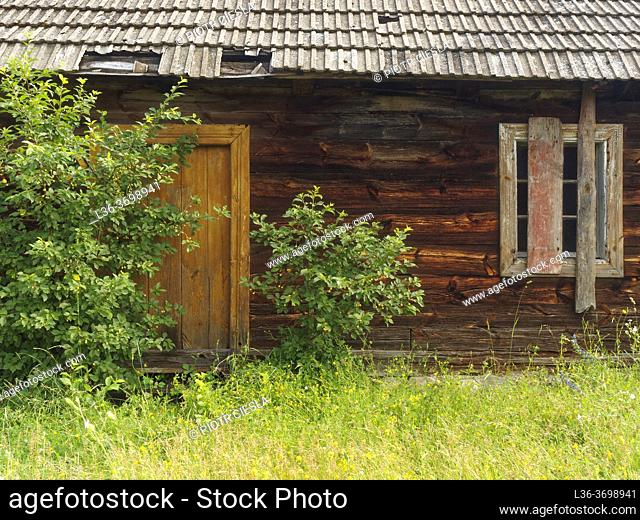Poland. Old wooden country house