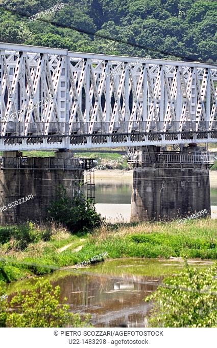 DMZ Zone (South Korea): the Freedom Bridge, North of Munsan