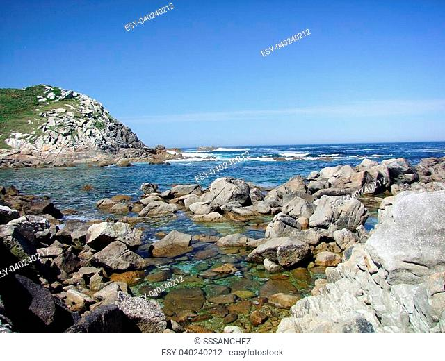 Natural Park Cies Islands in Galicia Spain