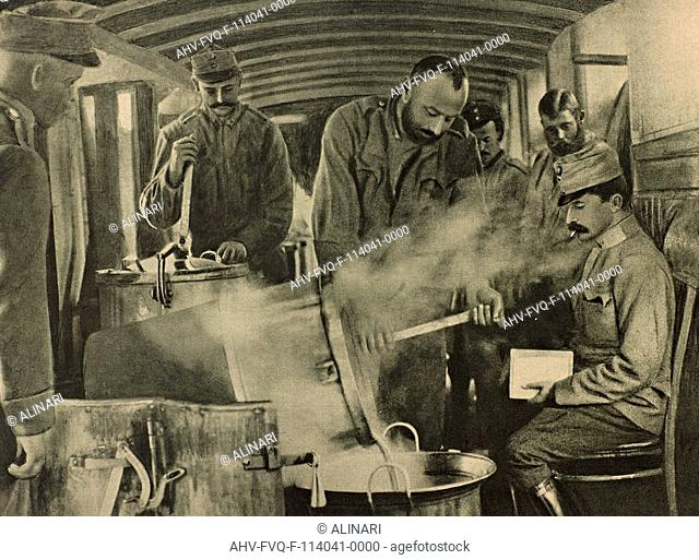 World War I: kitchen of the German army in a wagon, shot 1915-1918 by OUIW