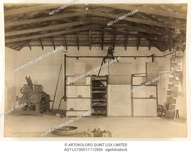 Photograph - A.T. Harman & Sons, Industrial Equipment, circa 1923, A black and white photograph of industrial equipment produced by A.T